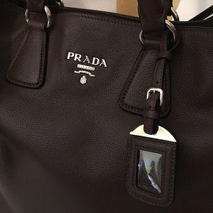 1c5ad86d6d9d Prada Bags - NWT PRADA Vitello Phenix Mahogany Tote BN2419